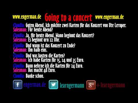 Learn German | Dialog | Going to a concert