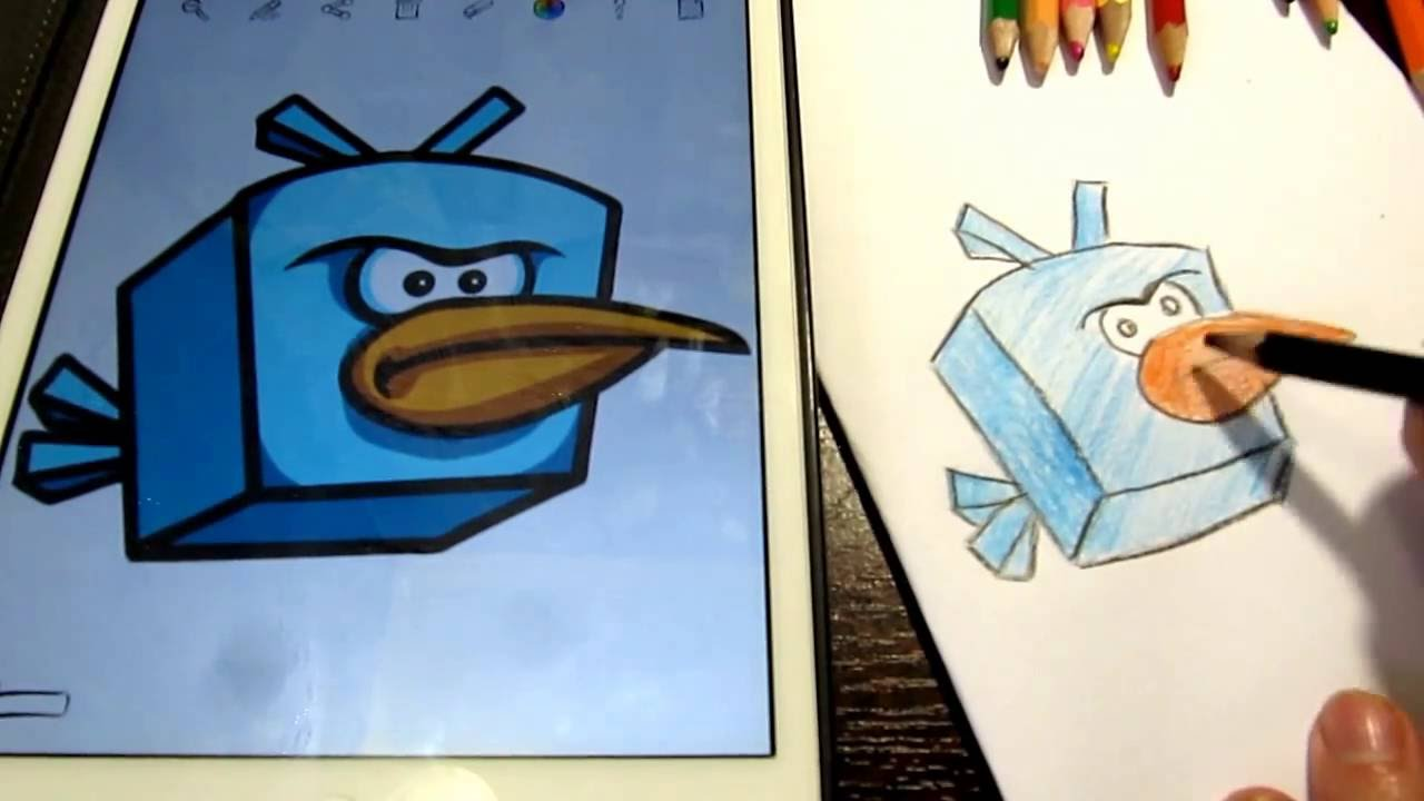 Angry Birds How To Draw Ice Bird Coloring Pages For Kids
