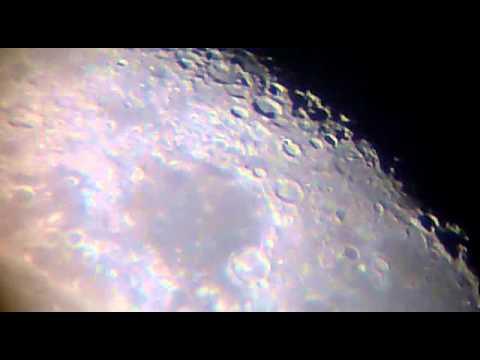 Moon celestron powerseeker 50 az telescope youtube