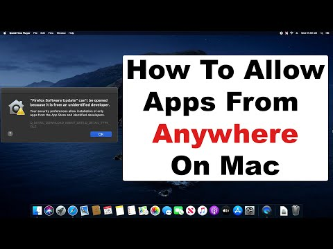 MacOS - How To Open Unidentified Developer Apps & Allow Downloads From Anywhere On Apple Mac