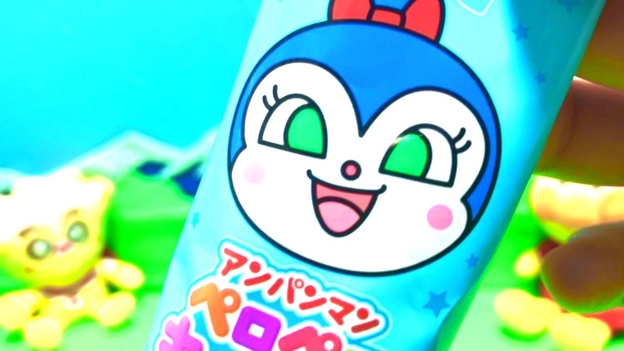 アンパンマン❤ アンパンマンペロペロキャンディ♪ コキンちゃん ラムネ❤ アンパンマン 顔型 棒つき キャンディ 不二家 7種類 8g FUJIYA  Anpanman Candy