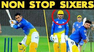 IPL 2019 : MS Dhoni & Raina NON Stop Sixers   Fans Cheers In Chepauk Stadium   CSK Practice Match