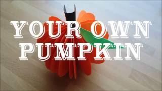 DIY PUMPKIN  | Gör Det Själv: Din egna pumpa!