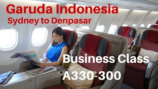 Garuda Indonesia Business Class A330-300 Sydney to Denpasar