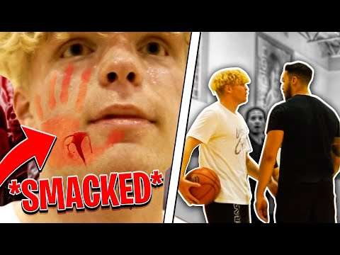 Trash Talker Smacked Me! 5v5 Basketball At The Gym!