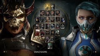 Mortal Kombat 11: Select Screen All Characters and Animations