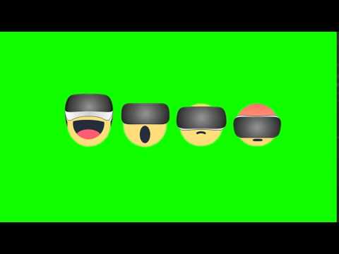 Facebook Reactions Green Screen With Virtual Reality Headset !