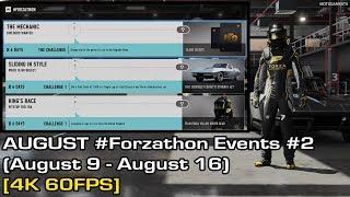 Forza Motorsport 7 - August #Forzathon Events #2 (August 9 - August 16) [4K 60FPS]