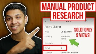 MANUAL eBay Dropshipping Product Research 2019 for Ebay Manual Store  - NO SOFTWARE