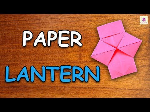 Learn How To Make Lantern Using Paper | Origami For Kids | Periwinkle