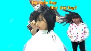 Vlogs Thanh Băng Đi Cắt Tóc Ngắn❤Baby channel❤