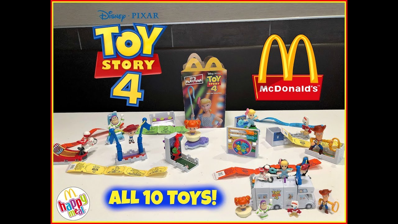 TOY STORY 4 Movie MCDONALDS Happy Meal Toys! June 2019! ALL 10 TOYS!