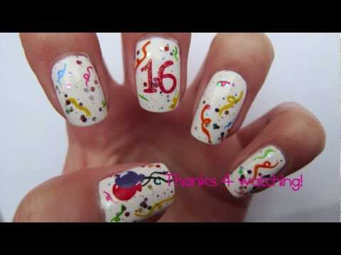 Hy Birthday Nails