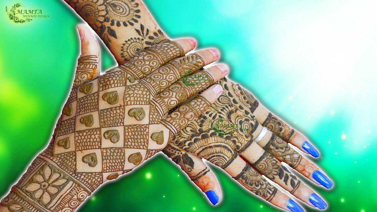 Easy Mehndi Designs for Back Hands 2021   Simple Back Hand Mehndi Designs   Mamta Mehndi Design