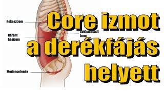 Core izmot a derékfájás, hátfájás, gerincsérv helyett