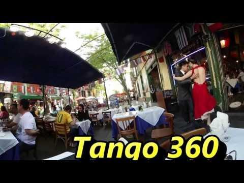 4K 360 Video - Tango in Buenos Aires, La Boca, Caminito, Argentina - Samsung Gear 360 VR