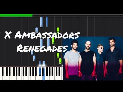 X Ambassadors - Renegades Piano Tutorial