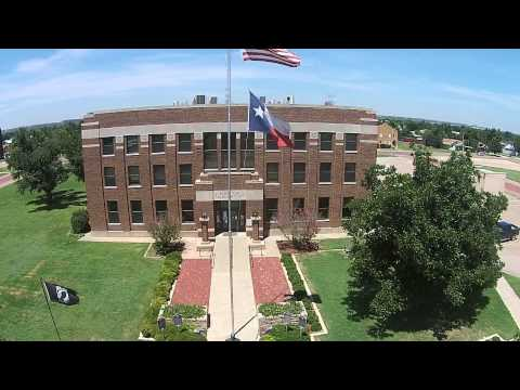 Garza County Courthouse and Square in Post Texas