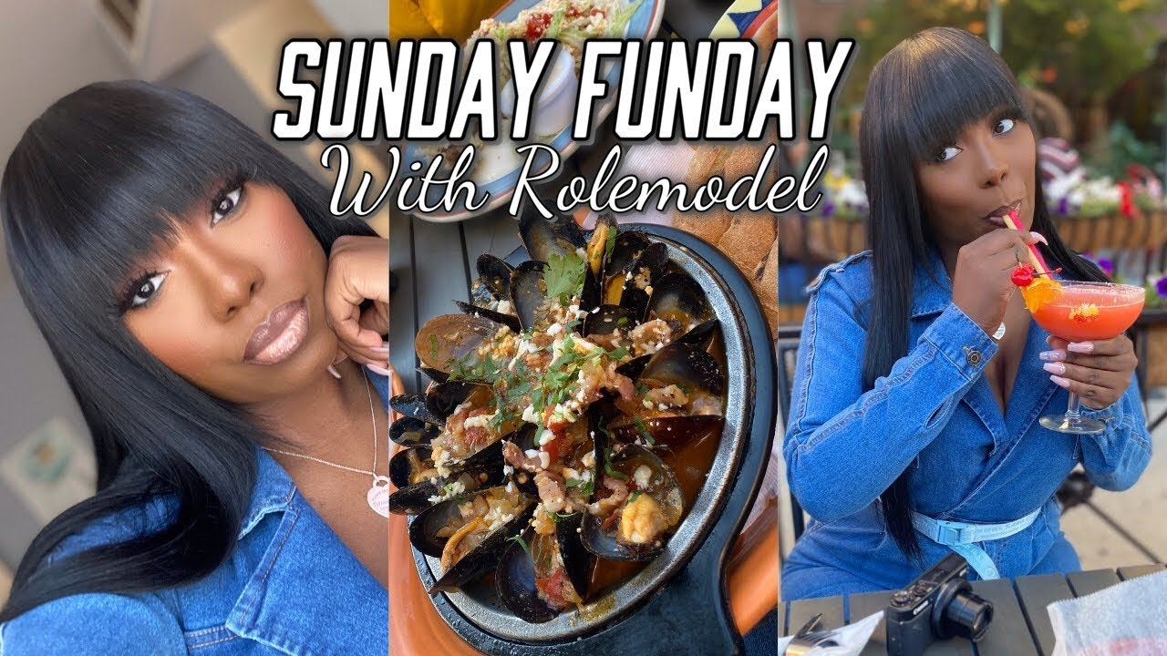 SUNDAY FUNDAY + HAIR REVAMP | Favorite Food & HOOKAH | Rolemodel
