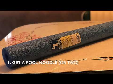 Dollar Store Pool Noodle Bed Rail