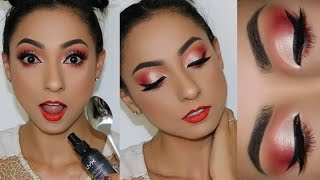MAQUILLAJE ROJO Y NARANJA | 8 TIPS PARA PIELES GRASAS  ♥♥♥ OILY SKIN MAKEUP AND HACKS ♥♥♥ Andy Lo