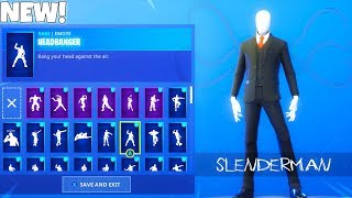 NEW! SLENDERMAN SKIN! With EMOTES! (Showcase) Fortnite Battle Royale