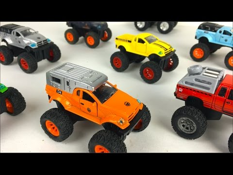 UNBOXING SUPER FOUR WHEEL DRIVE - SUPER POWER OFF ROAD VEHICLES WITH RAMPS & FUN IN DINOSAURS LAND