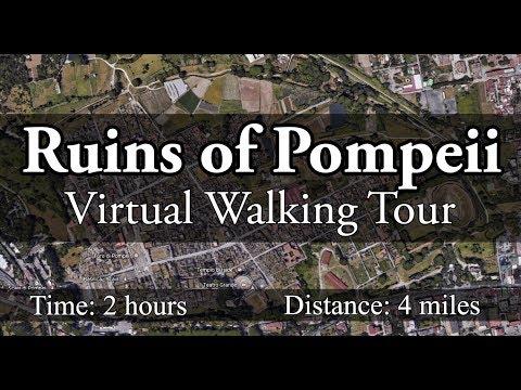 Ruins of Pompeii: Virtual Treadmill Walking Tour (With Music)