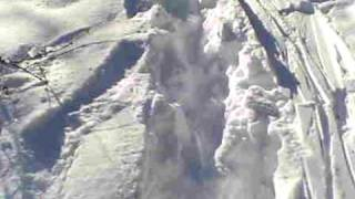 a demonstration of how deep the snow is in dassel MN Thumbnail
