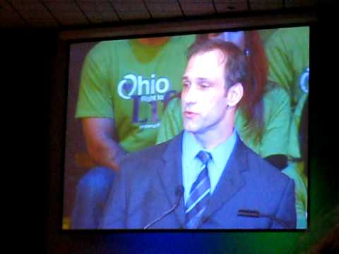 Ohio Right to Life Chris Spielman March 5 2010 in Columbus Ohio