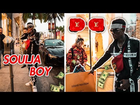 SOULJA BOY SHOPPING SPREE AT LOUIS VUITTON (LV AIRPODS)