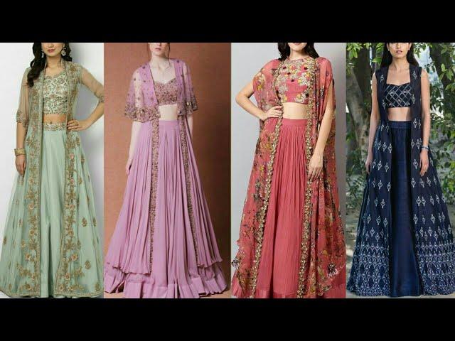 Modern Lehenga Choli With Jacket Style Collection Lehenga With Shrugs Jacket Lehenga Youtube