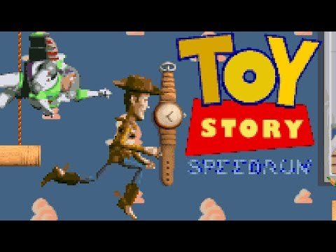 SNES Toy Story, any% speed run in 21:07