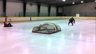 PowerSkating Academy Student Kosta Likourezos Clears Two Hockey Nets