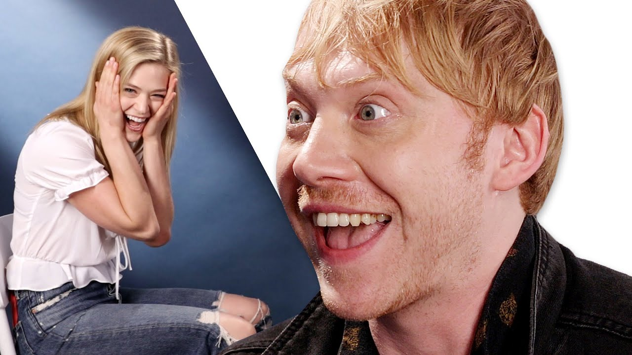 Download Surprise Staring Contest With Rupert Grint