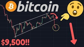BITCOIN FALLING TO $9,500!!! | The Rising Wedge/Bear Flag Finally Broke!!