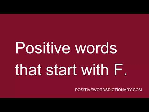Positive words That Start with F | Positive words starting with F