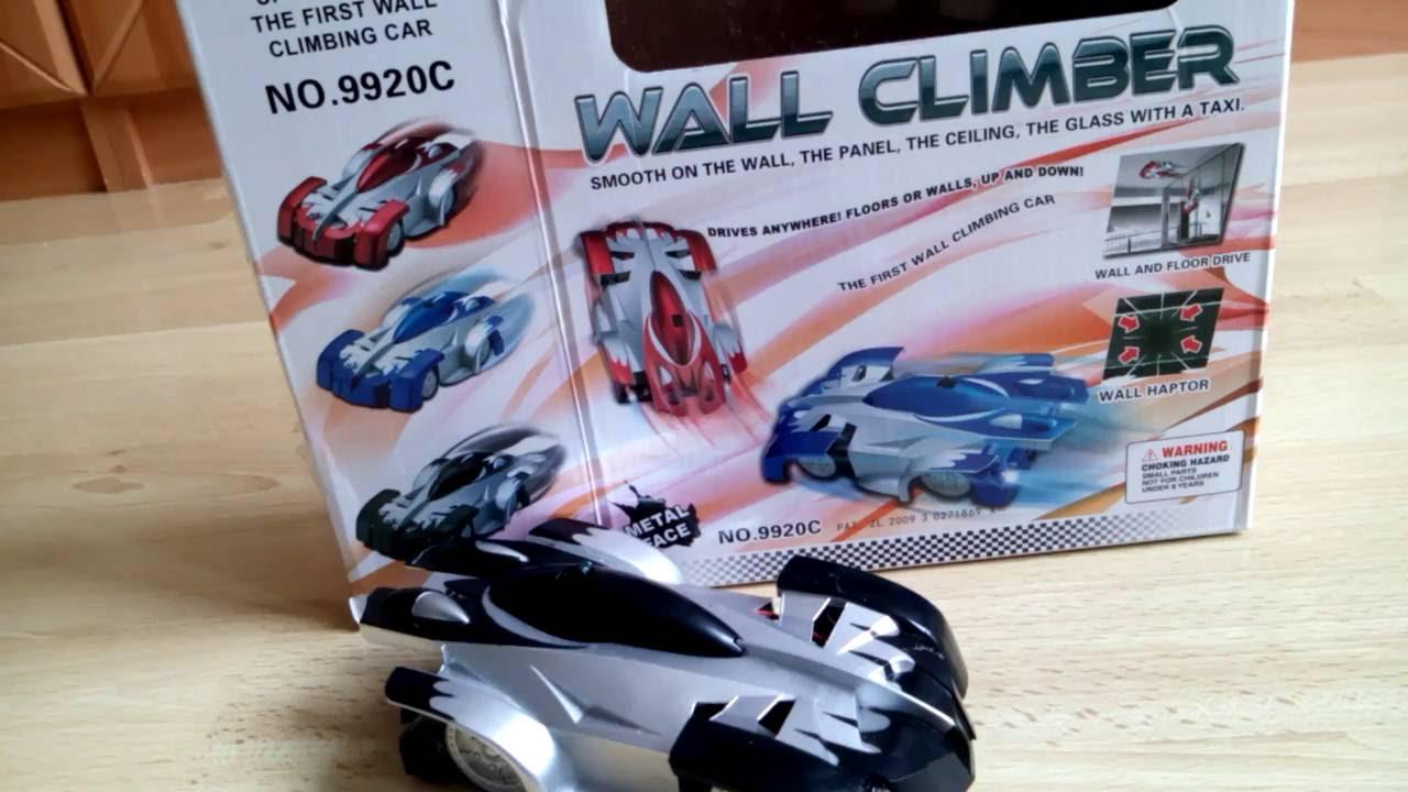 Rc Car Wall Climber Auto Fahrt Die Wand Hoch Oder Uber Kopf Youtube