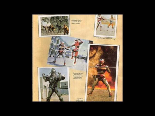 Álbum de Figurinhas Spielvan (Jaspion 2) Black Kamen Rider (Blackman), Maskman, Flashman e Metalder