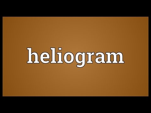 Heliogram Meaning