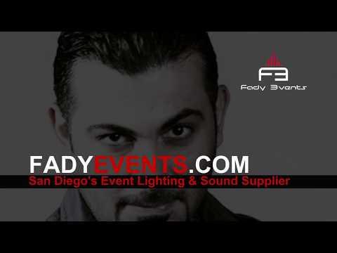 San Diego Event Lighting Rentals and DJ Sound Equipment Rentals with LED Dance Floor