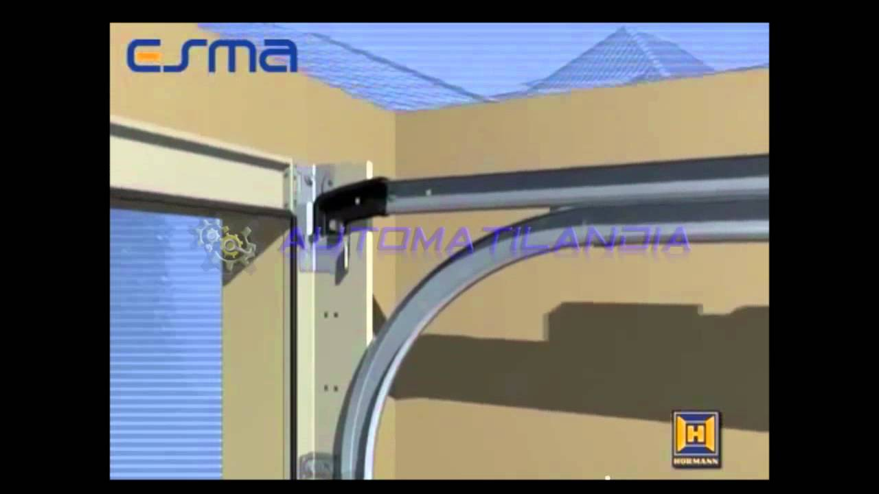 033b instalaci n puerta seccional hormann youtube - Mecanismo puerta garaje ...