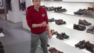 Vinh shows us Suzy Q in Clarks Shoe Shop