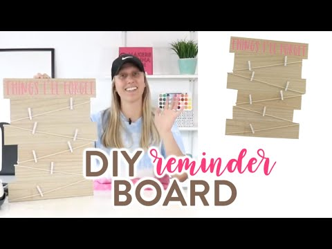 EASY IRON-ON WOOD PROJECT WITH CRICUT – DIY REMINDER BOARD!
