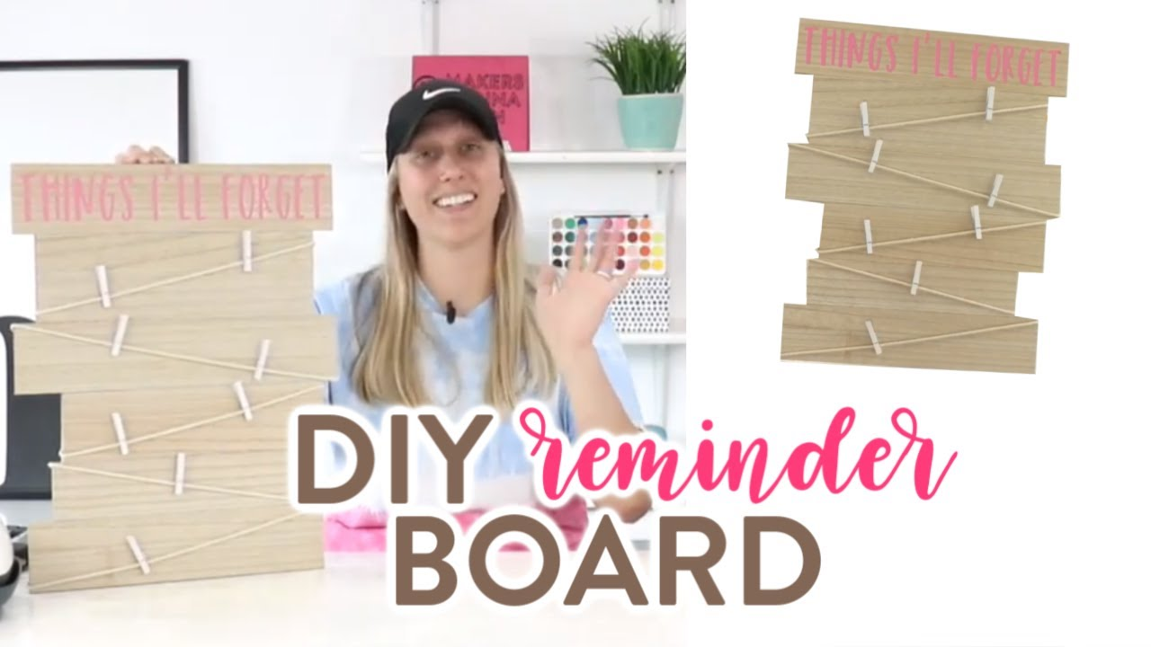 Easy Iron On Wood Project With Cricut Diy Reminder Board