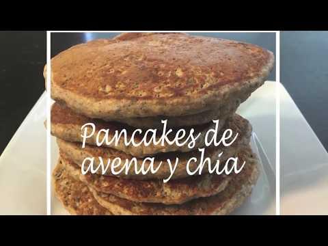 PANCAKES DE AVENA Y CHÍA- Recetas Nutritivas- HechoxMamá