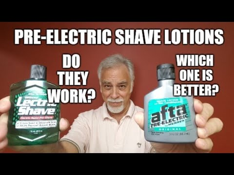 Shaving W Electric Razor Which Pre Electric Shave Product Is