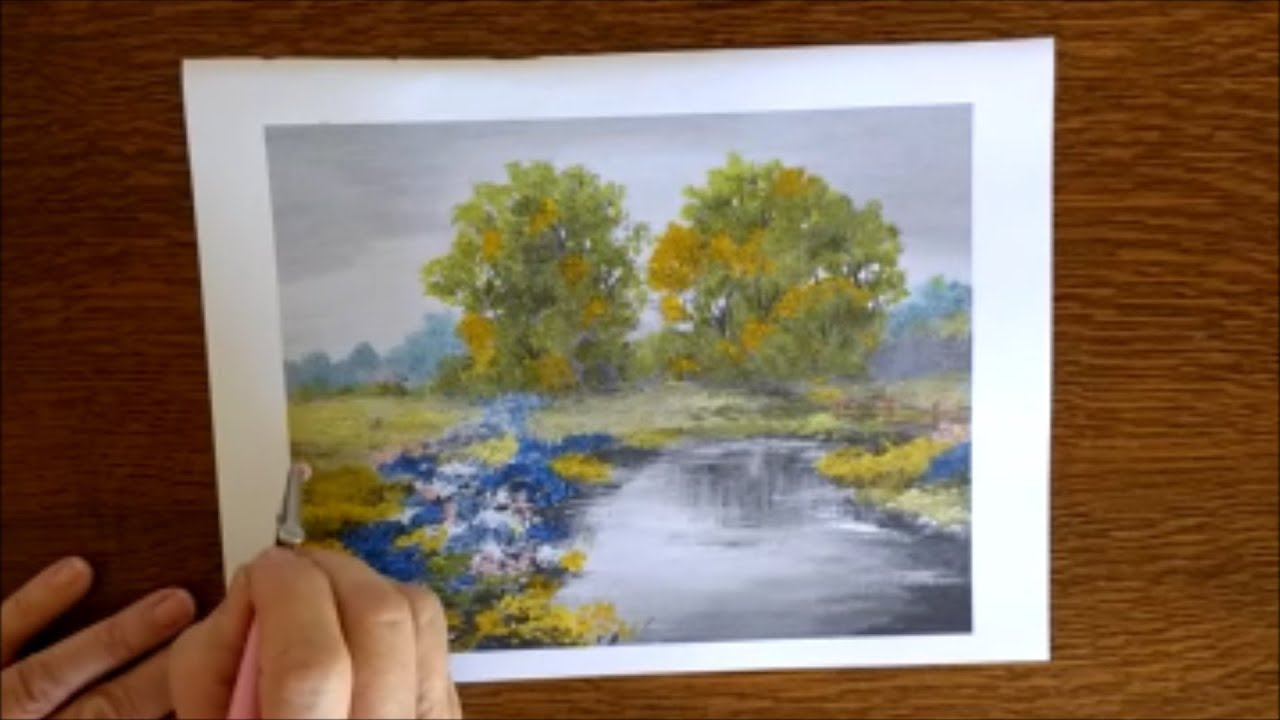 Grayscale coloring tutorial demo ~ Charming Landscapes: Adult Grayscale  Coloring Book