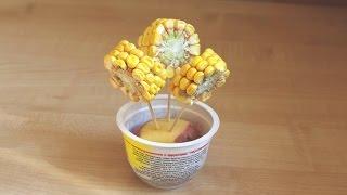 Как сделать цветы из кукурузы. Поделки из овощей на выставку в детский сад своими руками.
