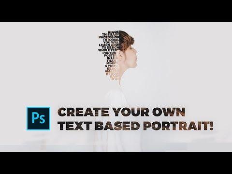 Photoshop Tutorial: EPIC Text Portrait Design 2019 (SO EASY!) thumbnail